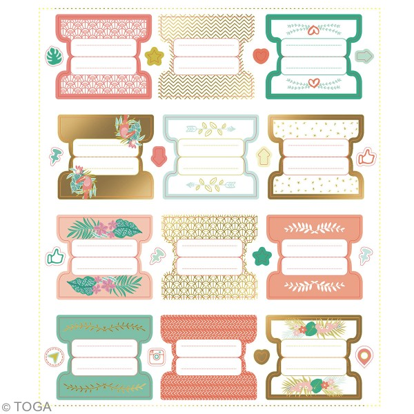 Stickers Bullet Journal - Onglets - 24 pcs - Photo n°3