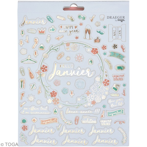 Carnet de stickers - Mon année en stickers - 12 planches - Photo n°2