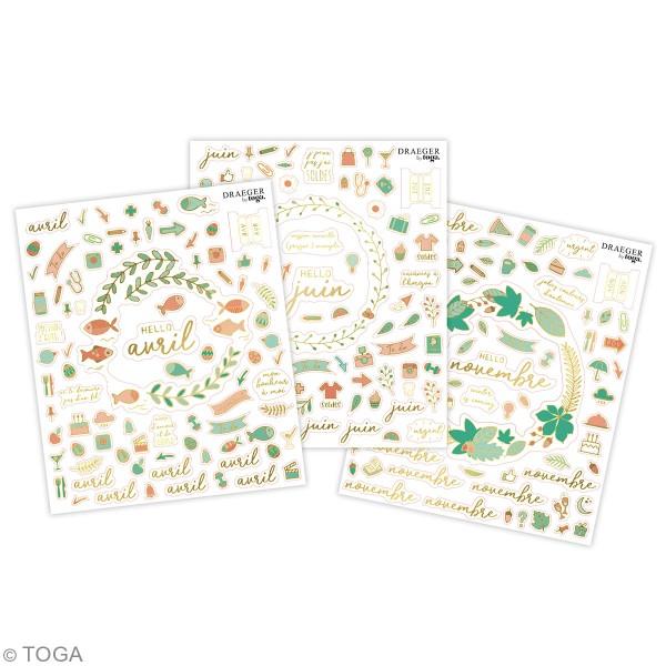 Carnet de stickers - Mon année en stickers - 12 planches - Photo n°3