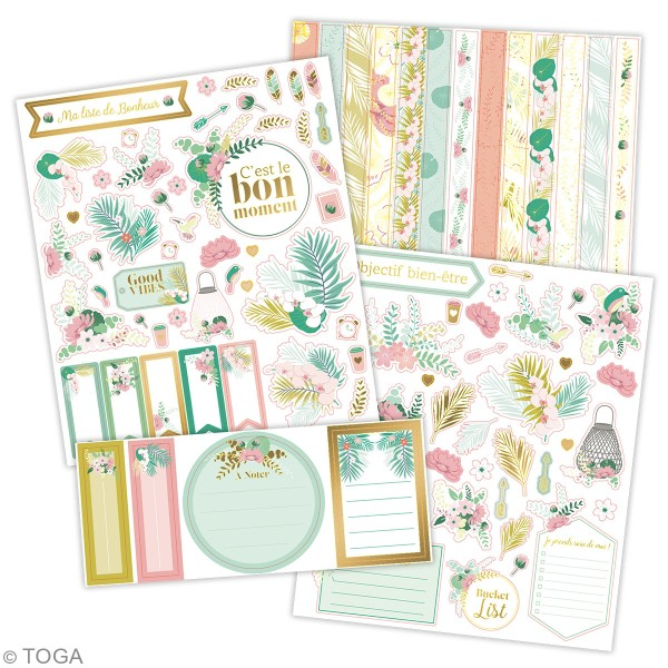 Kit stickers - Bullet journal - 4 planches - Photo n°2