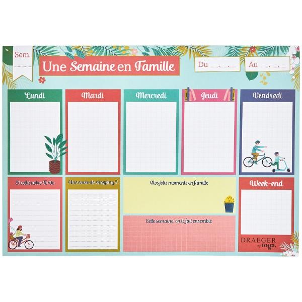 Semainier perpétuel familial - 30 x 21 cm - 52 pages - Photo n°1