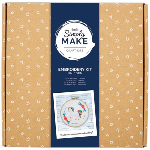 Kit Broderie Simply Make - Licorne - Photo n°1