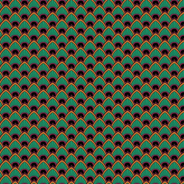 Grand coupon de tissu coton microfibre - Motif Wax Plume de paon - 300 x 160 cm - Photo n°1