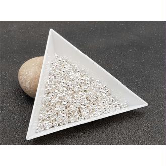 1000 Perles à écraser 3mm Argentées