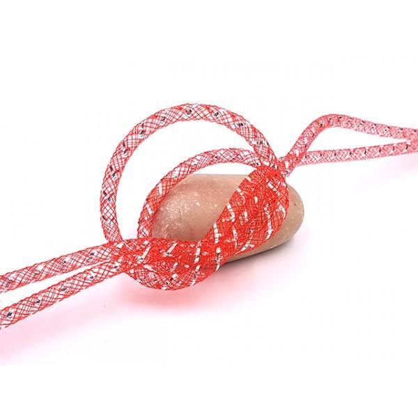 10m Résille Tubulaire 4mm Rouge - Photo n°1