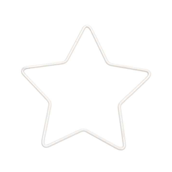 Forme en métal blanc - Étoile - 11 x 10,5 cm - Photo n°1