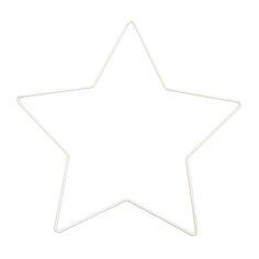 Forme en métal blanc - Étoile - 21 x 20 cm