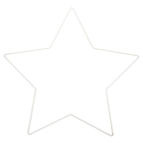 Forme en métal blanc - Étoile - 30 x 28,5 cm - Photo n°1