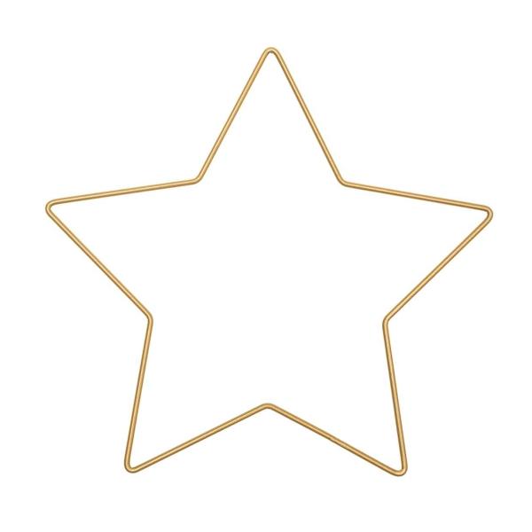 Forme en métal doré - Étoile - 21 x 20 cm - Photo n°1