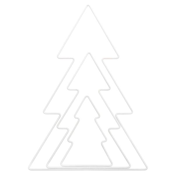 Forme en métal blanc - Sapin - 11 x 10,5 cm - Photo n°2