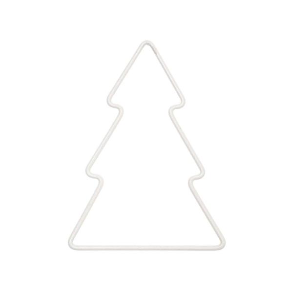 Forme en métal blanc - Sapin - 11 x 10,5 cm - Photo n°1