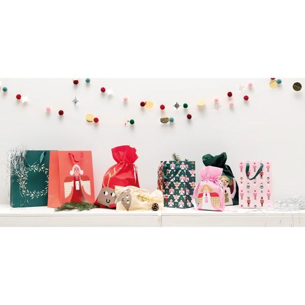 Sac en tissu pour Noël - Grand Format - Renne - 30 x 45 cm - Photo n°2