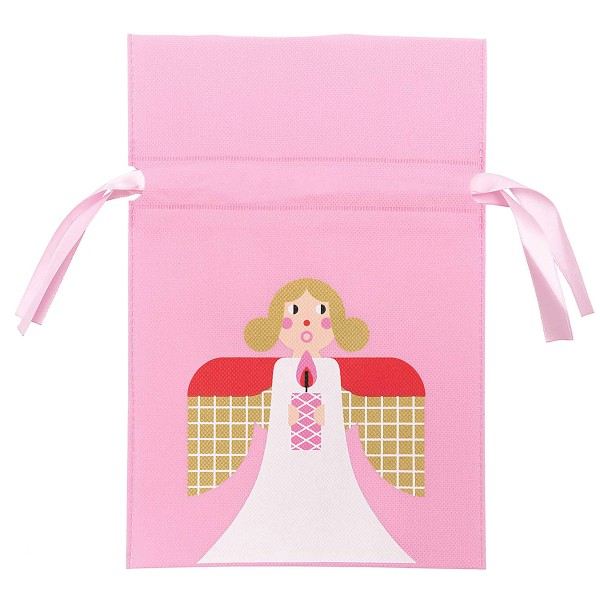 Sac en tissu pour Noël - Petit Format - Ange - 20 x 30 cm - Photo n°1