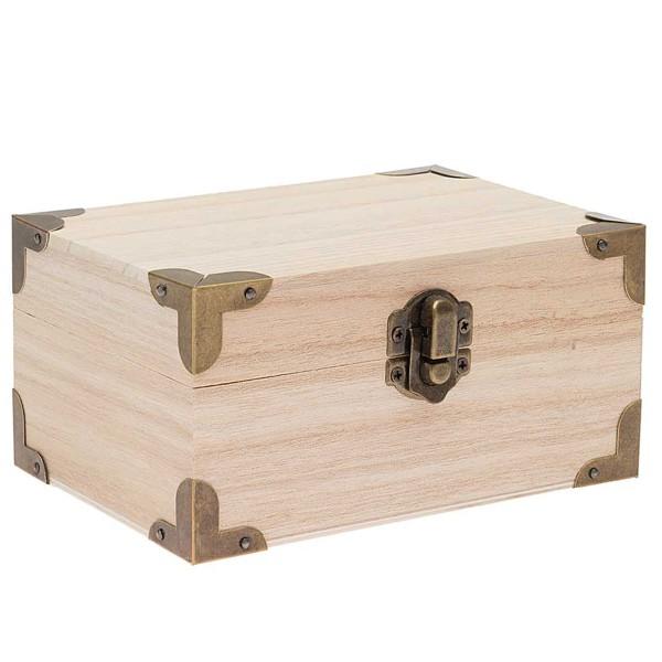 Petit coffre en bois à décorer - 14 x 10 x 7 cm - Photo n°1