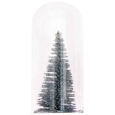 Mini cloche en verre décorative - Sapin - 10 x 4,7 cm
