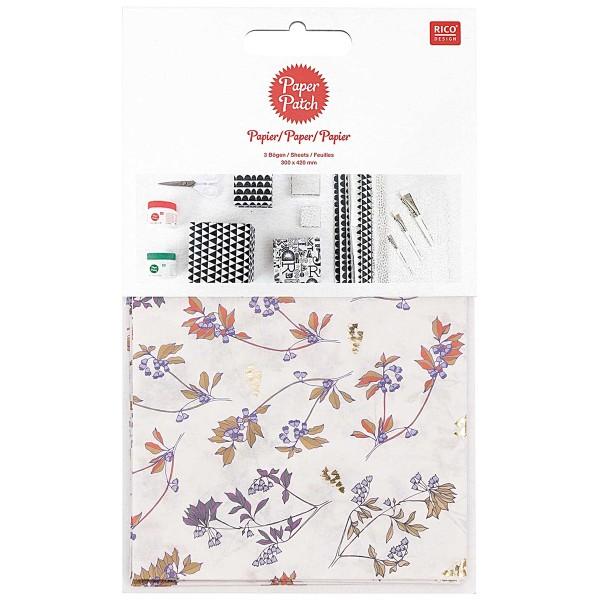 Papier Paper patch - Fleurs clochettes - 30 x 42 cm - 3 pcs - Photo n°1