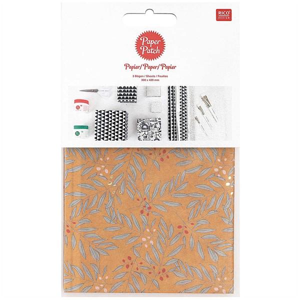 Papier Paper patch - Branches et Feuilles - 30 x 42 cm - 3 pcs - Photo n°1