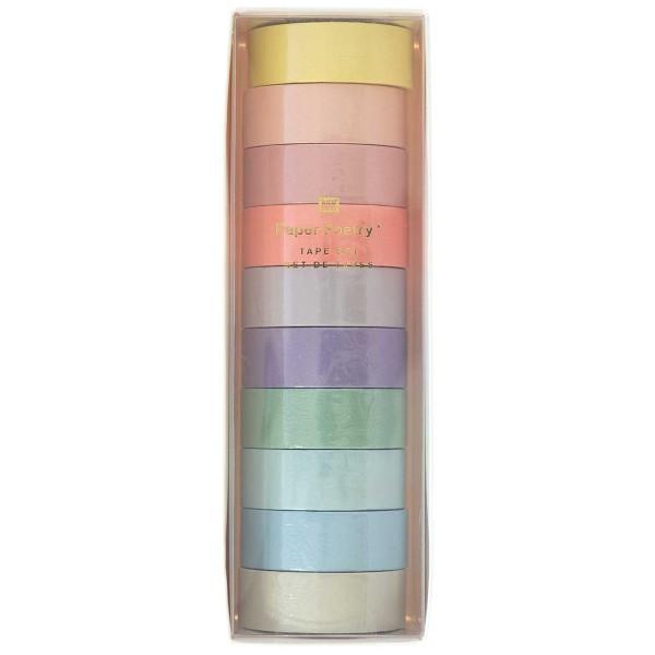 Assortiment de Masking Tape - Pastel - 1,5 cm x 5 m - 10 pcs - Photo n°1