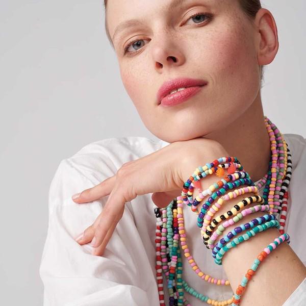 Assortiment de perles rondes en céramique - Multicolore - 3 mm - 30 g - Photo n°2