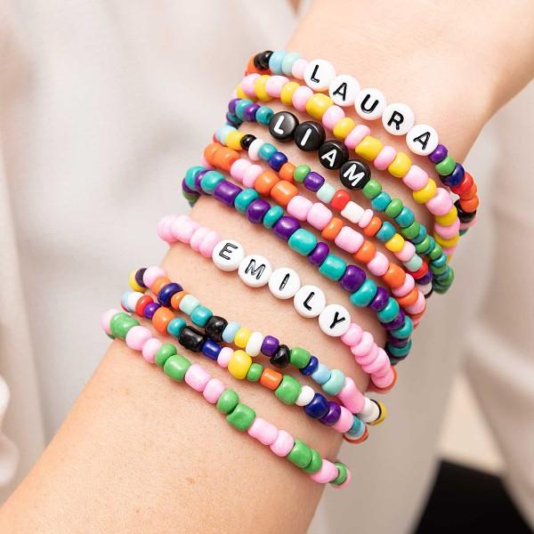 Assortiment de perles rondes en céramique - Multicolore - 3 mm - 30 g - Photo n°3