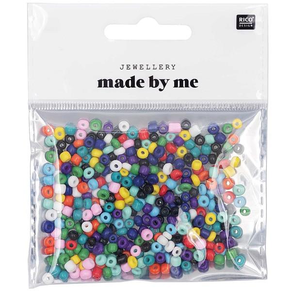 Assortiment de perles rondes en céramique - Multicolore - 3 mm - 30 g - Photo n°1