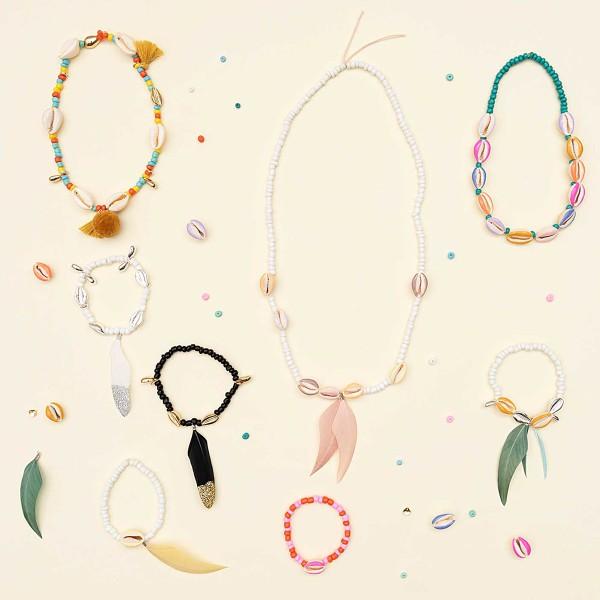 Assortiment de perles rondes en céramique - Multicolore - 5 mm - 30 g - Photo n°2