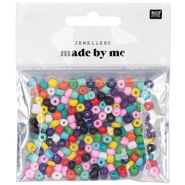 Assortiment de perles rondes en céramique - Multicolore - 5 mm - 30 g - Photo n°1