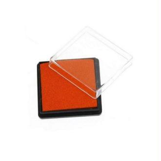 Encreur Carré Pour Tampon Orange Rouge