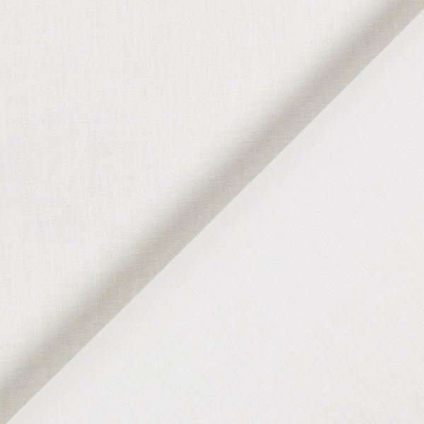 Tissu Popeline de coton - Écru - Vendu par 10 cm - Photo n°1