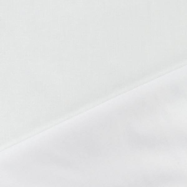 Tissu batiste de coton - Blanc - Vendu par 10 cm (sur mesure) - Photo n°1