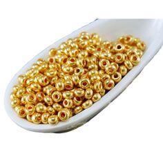 25 G 11//0 Vert Perles Argent Doublé Preciosa Tchèque Perles De Rocaille 2 mm vrac acheter