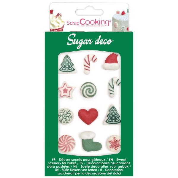 Décoration en sucre pour gâteaux - Décos Noël - 12 pcs - Photo n°1