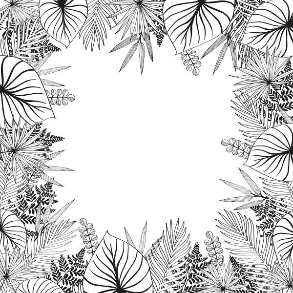 Tampon Doodler - Jungle - Cadre 13,5 x 13,5 cm - Photo n°2