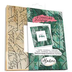 Tampon Doodler - Feuilles de palmier - Cadre 13,5 x 13,5 cm