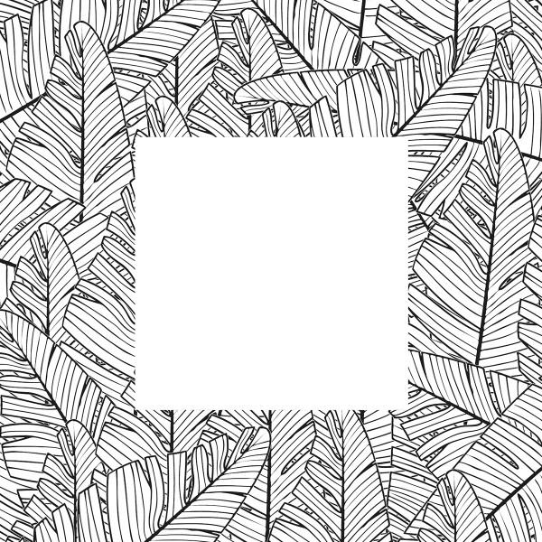 Tampon Doodler - Feuilles de palmier - Cadre 13,5 x 13,5 cm - Photo n°2