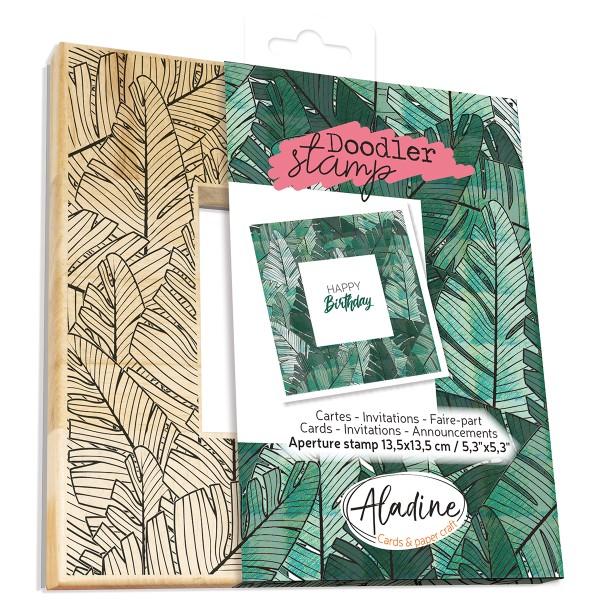 Tampon Doodler - Feuilles de palmier - Cadre 13,5 x 13,5 cm - Photo n°1