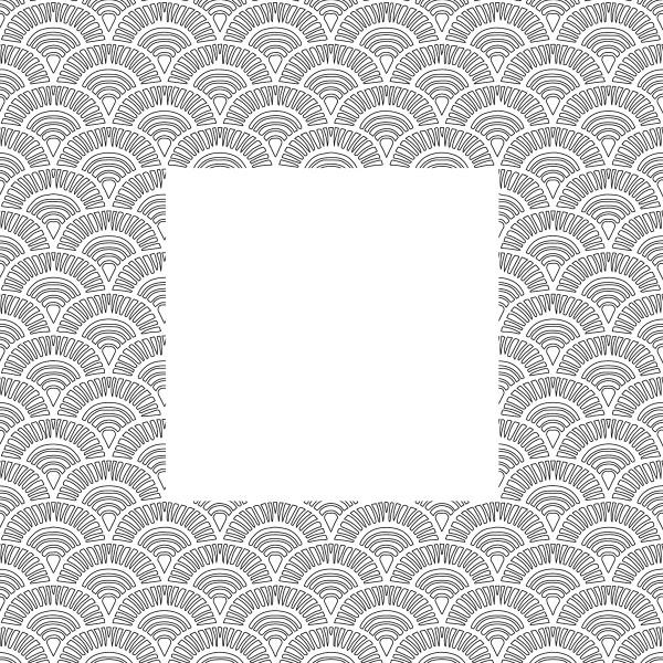 Tampon Doodler - Écailles - Cadre 13,5 x 13,5 cm - Photo n°2