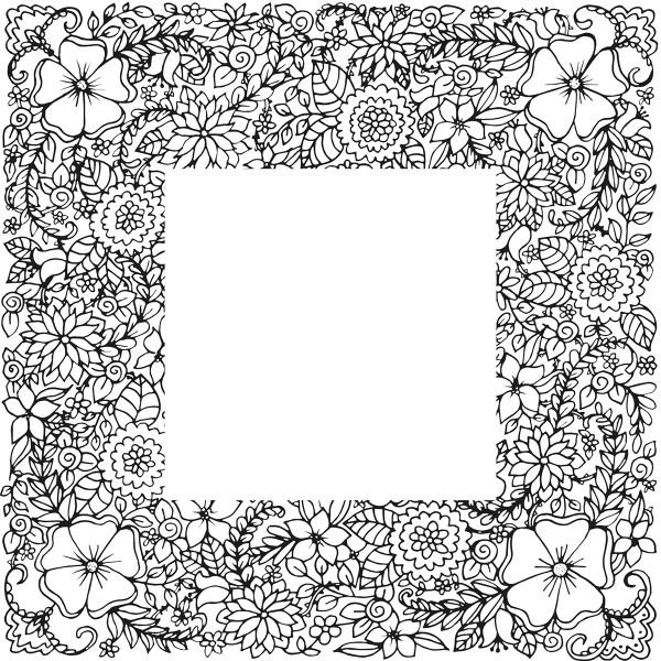 Tampon Doodler - Fleurs - Cadre 13,5 x 13,5 cm - Photo n°2