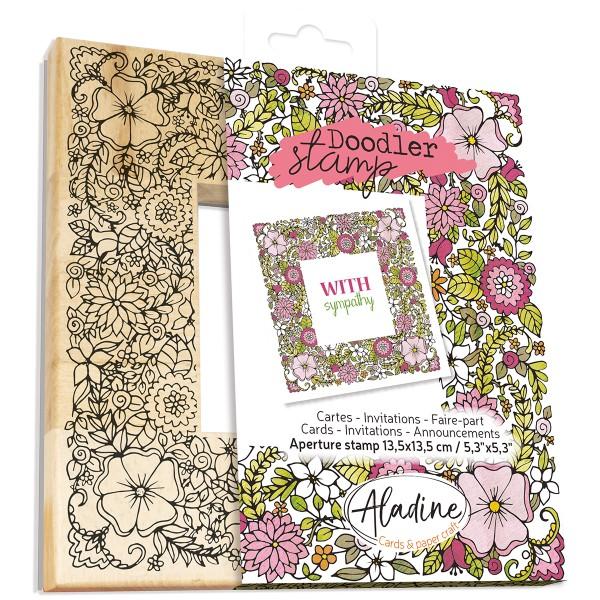Tampon Doodler - Fleurs - Cadre 13,5 x 13,5 cm - Photo n°1