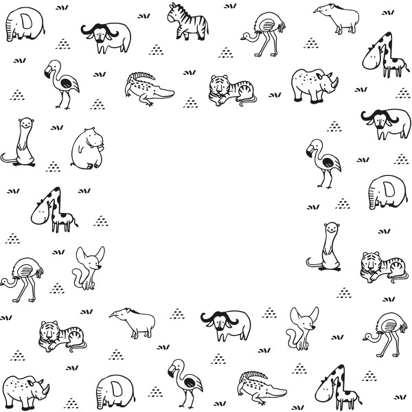 Tampon Doodler - Animaux - Cadre 13,5 x 13,5 cm - Photo n°2