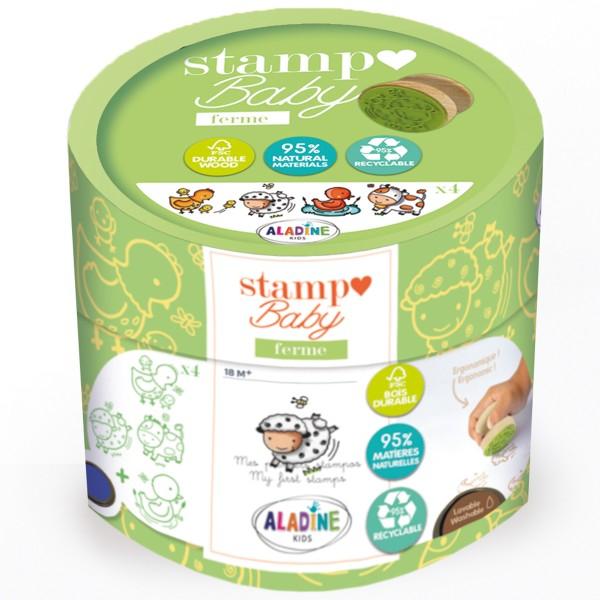Kit Stampo Baby Eco Friendly - Animaux de la ferme - 4 pcs - Photo n°1