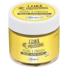 Poudre à embosser - Jaune Pastel - 25 ml