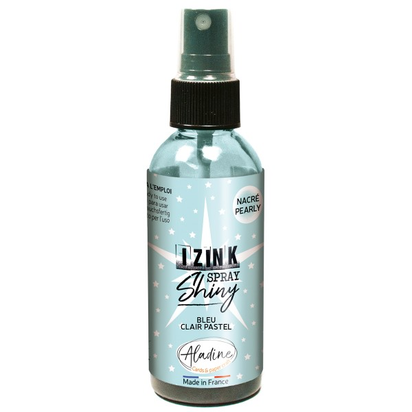 Encre en spray Izink Shiny - Bleu Clair - 80 ml - Photo n°1
