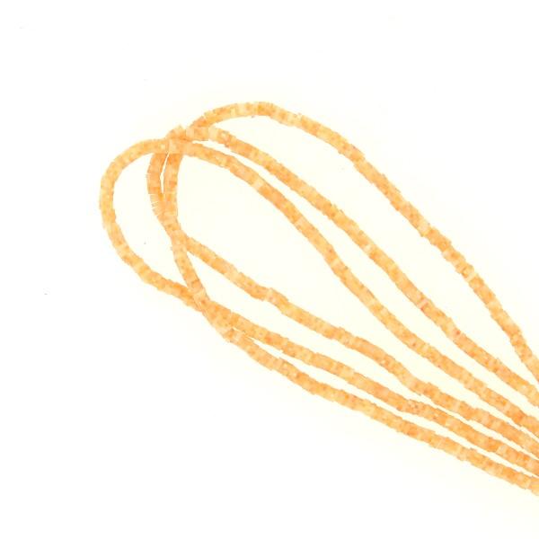 Perles Heishi rondelles 4 mm - Orange Transparent - 20 g - Photo n°1
