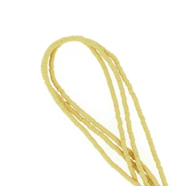 Perles Heishi rondelles 4 mm - Vert clair Olive - 20 g - Photo n°1