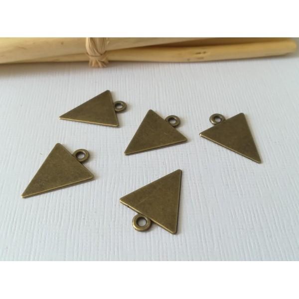 Pendentif métal bronze triangle 18 mm - Photo n°1