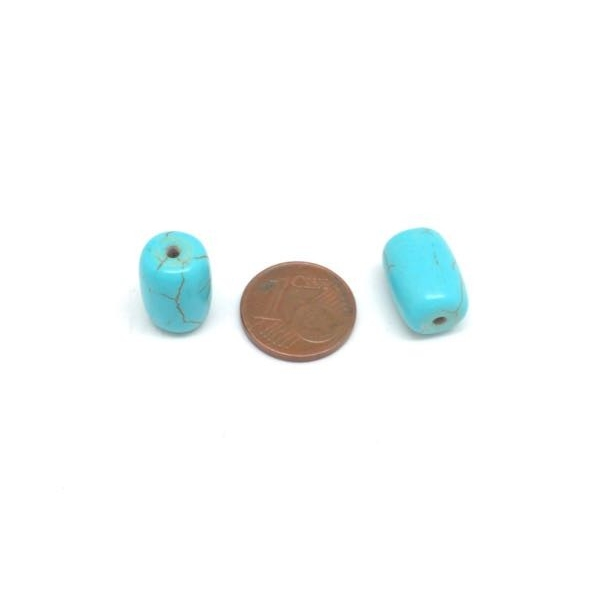 5 Perles Cylindriques 14mm X 10mm Style