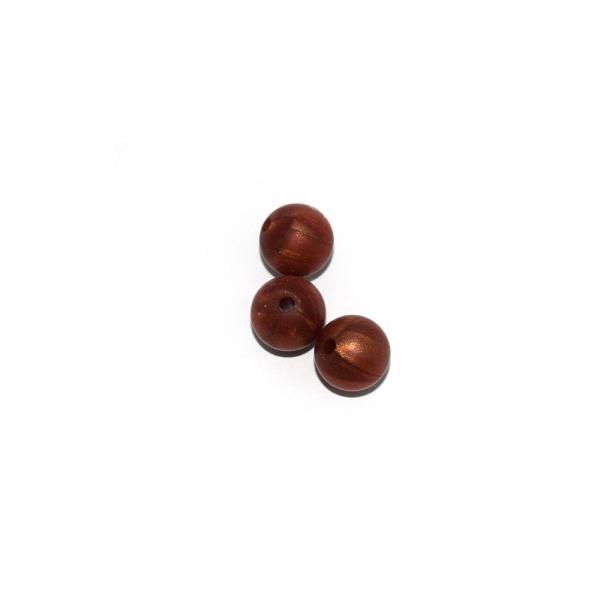 Perle ronde 12 mm en silicone cuivré - Photo n°1