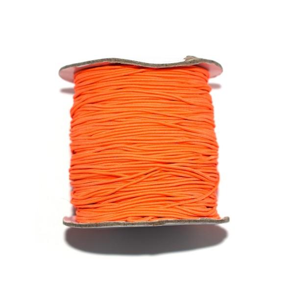 Fil nylon rond 1 mm élastique orange fluo x1 m - Photo n°1