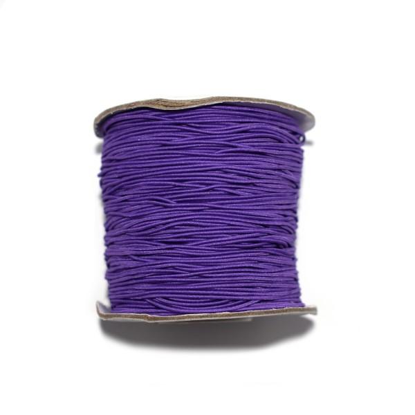 Fil nylon rond 1 mm élastique violet x1 m - Photo n°1